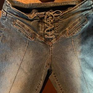 VTG Tommy Hilfiger Lace up Denim Jeans